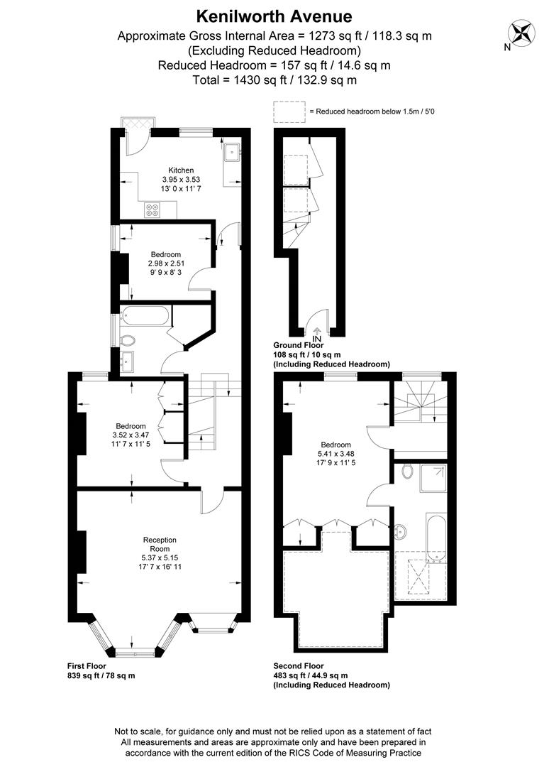 Floorplan for Kenilworth Avenue, Wimbledon
